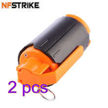 NFSTRIKE 2pcs Replacement Tactical Plastic Modified Crystal Water Beads Bomb Crystal Water Bullet Bomb Modified - Black + Orange(China)