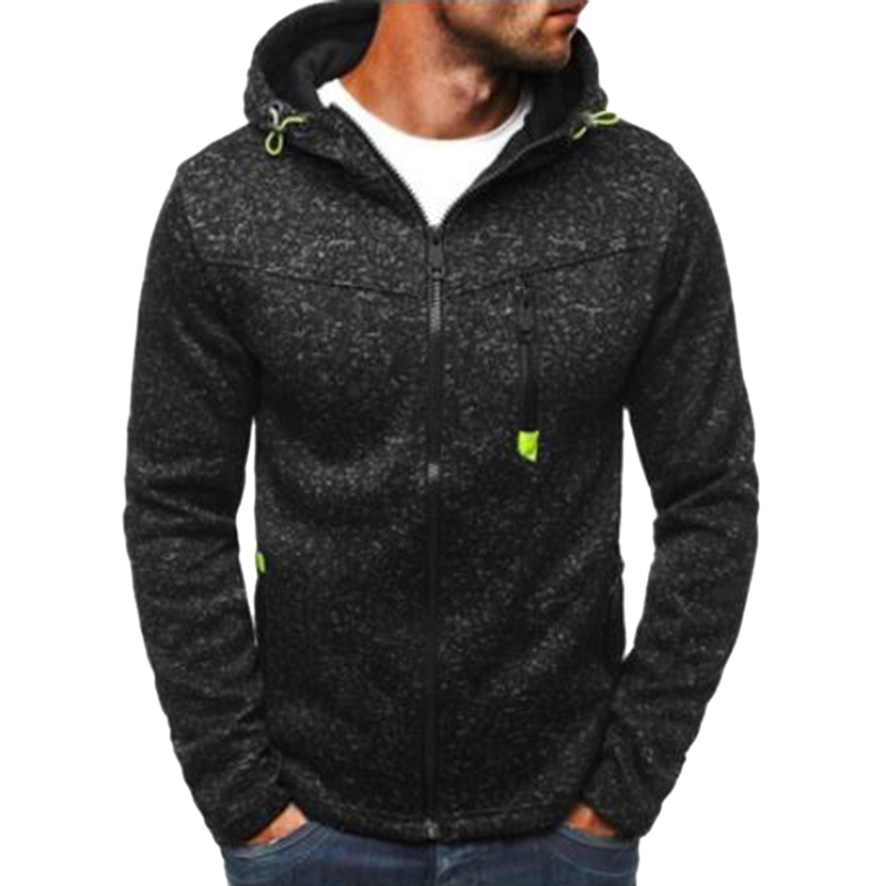 New Hoodies Sweatershirt Men Running Jacket Autumn Zipper Solid Cardigan Coat Sport Fitness Causal Male Hip  Jacket Plus Size|Running Jackets|   - AliExpress