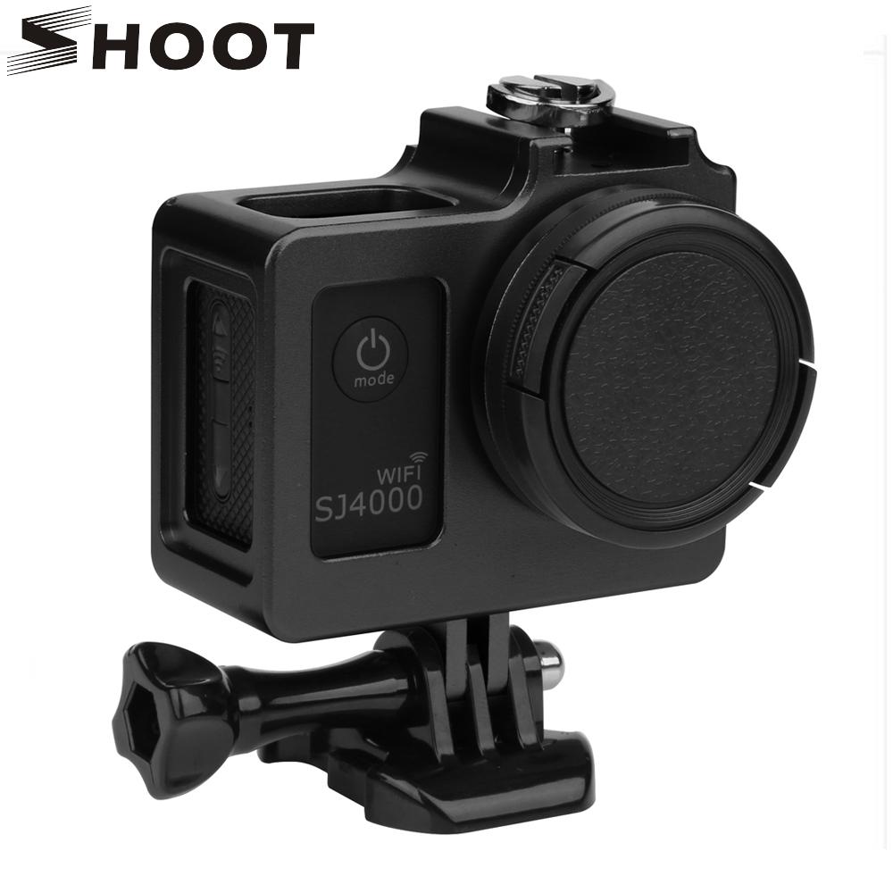 Prix pour En Alliage d'aluminium SJ4000 Coque De Protection En Métal Cadre Lens Cover UV Filtre pour SJCAM SJ4000 WIFI/SJ6000/SJ7000/H9 Accessoire