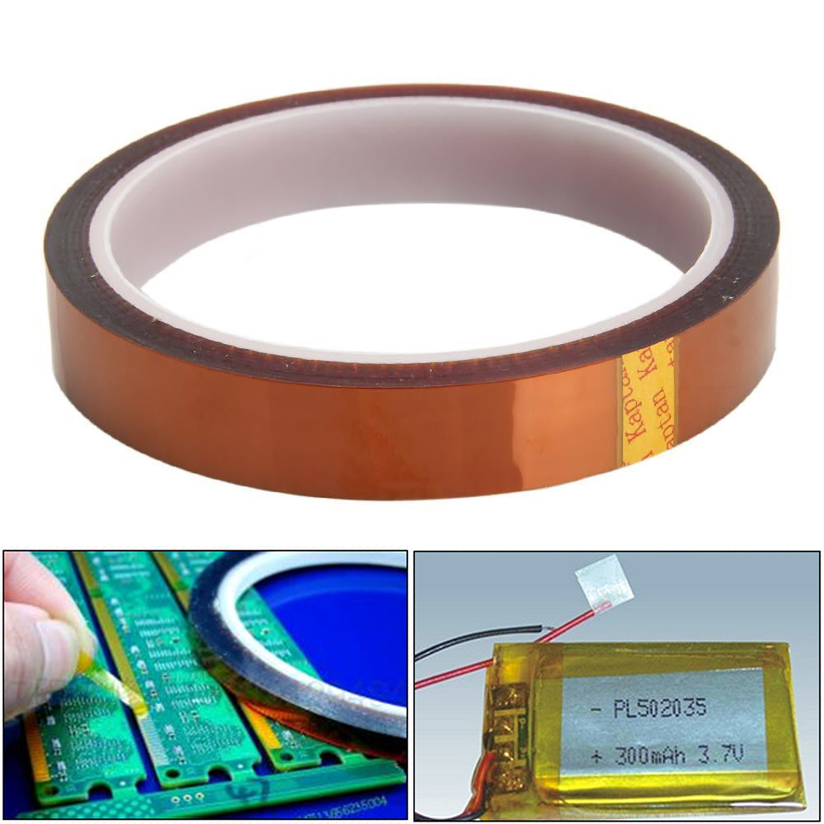 High Quality Electrical Insulation Polyimide Tape 15mm*33m Mayitr Adhesive High Temperature Heat Resistant Tapes For BGA Reworks
