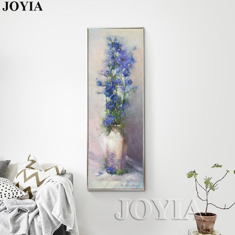 90cm große abstrakte Leinwandbilder Vintage Blumenvase Gehobene - Wohnkultur - Foto 3
