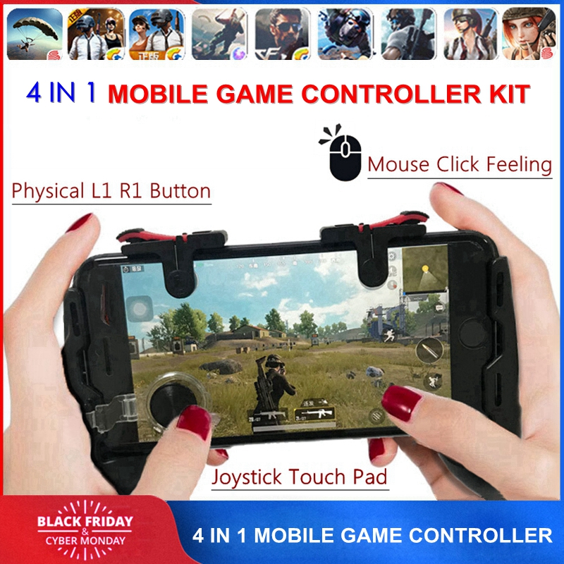 Free Fire PUBG Mobile Joystick Controller Gamepad PUGB L1 R1 Mobile Gaming Trigger Button L1R1 Shooter Phone Game Pad for iPhone(China)