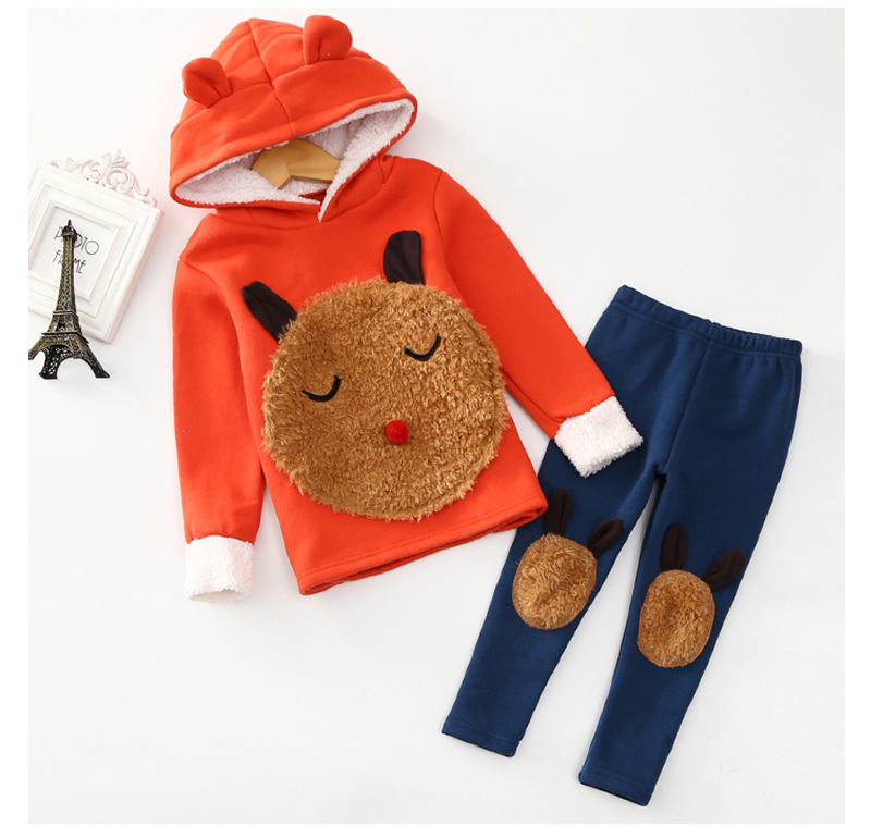 2018 winter spring and autumn new Children, girls baby hooded sweater dress pants