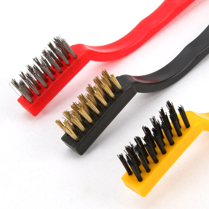 3pcs Set Copper Iron Nylon Wire Brush Metal Bristle Gas Burner Cleaning Kitchen Boiler 2751 In Brushes From Home
