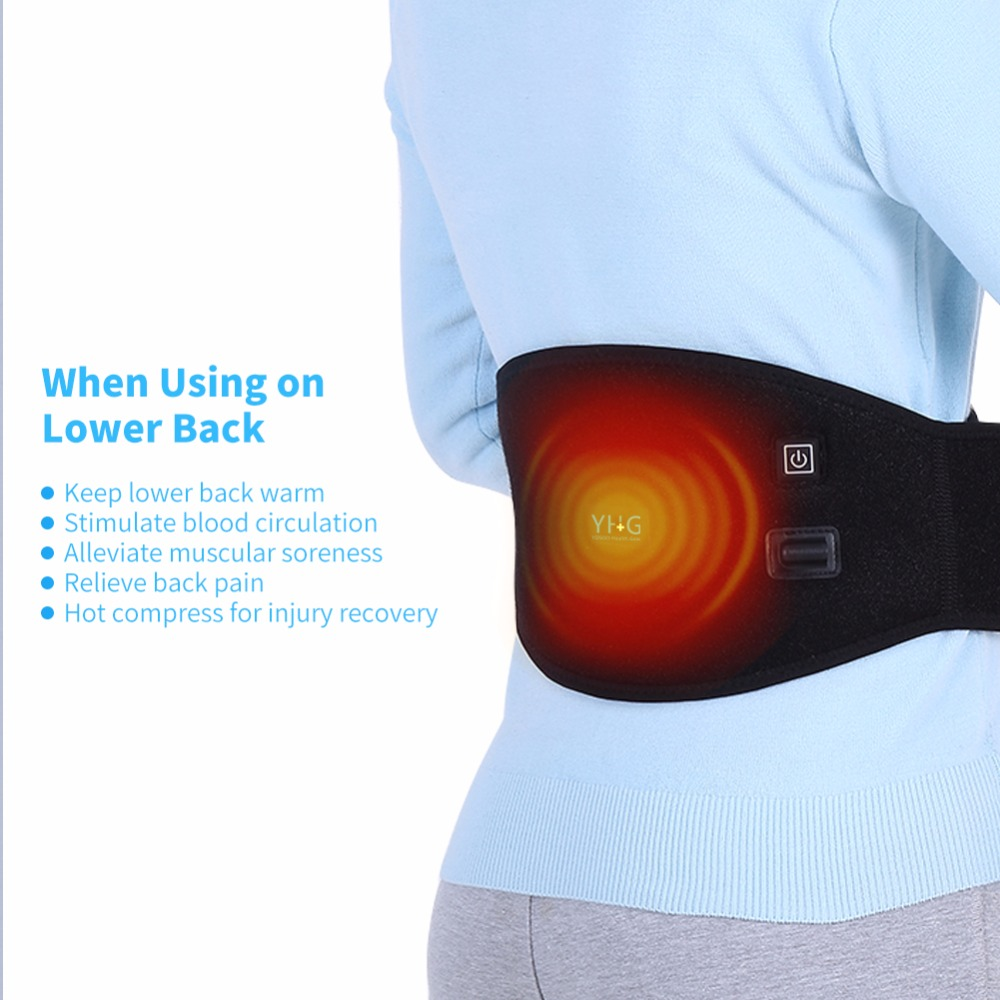 Heating Pad Heating Pad Electric Adjustable Contouring Lumbar Support