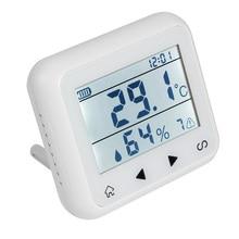 اللاسلكية 433 ميجا هرتز شاشة الكريستال السائل مجسات حرارة الرطوبة كاشف كشف ل نظام أمن الوطن حماية المنزل جهاز إنذار حرائق