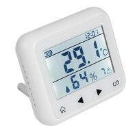 Wireless 433Mhz LCD Display Temperatur Sensoren Feuchtigkeit Detektor Erkennung für Home Security Haus Schutz Feuer Alarm System-in Alarm System Kits aus Sicherheit und Schutz bei