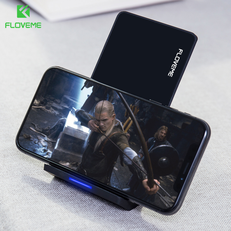 FLOVEME Qi Wireless Charger For iPhone X 8 8 Plus 10W Quick Fast Charging Wireless Chargers For Samsung S8 S7 S6 Edge Dock