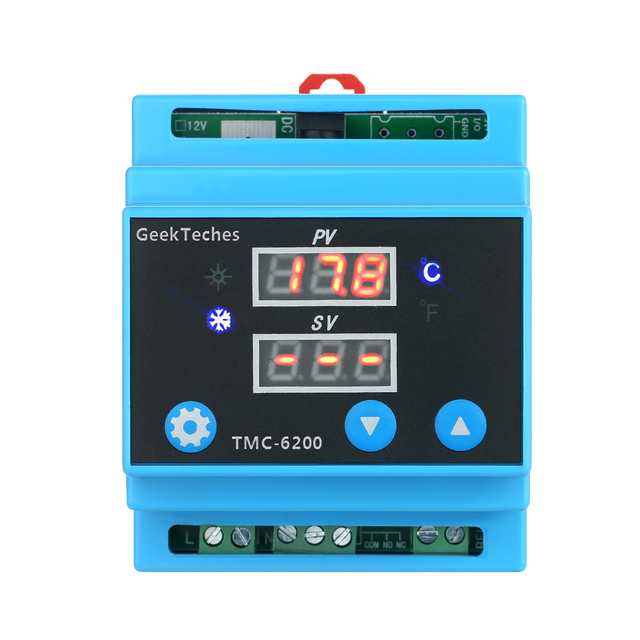 Digital Guide Rail One Way Temperature Controller Cooling Heating ...