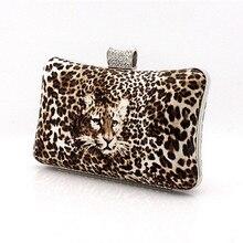 Neue Exquisite Hochzeit Taschen PU Frau Geldbörsen und Handtaschen Leopard Frauen Abendtaschen Damen Luxus Clutch