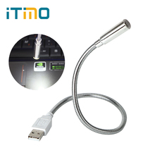 iTimo Flexible USB LED Book Light Super Bright Modern Portable Reading Lamp Torch Flashlight for Laptop Notebook PC Computer