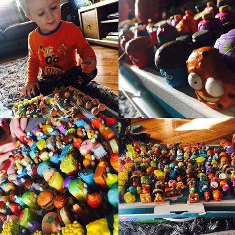 50 pcs o original o grossery gang mini brinquedos de acao figuras populares do miudo