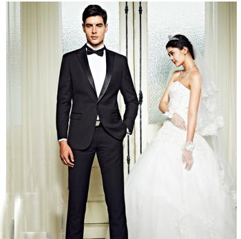Classic Black Wedding Suits 2 Pieces Groom Tuxedos Business Evening Party Suits Bespoke for Men Slim Fit Suits Shawl Collar