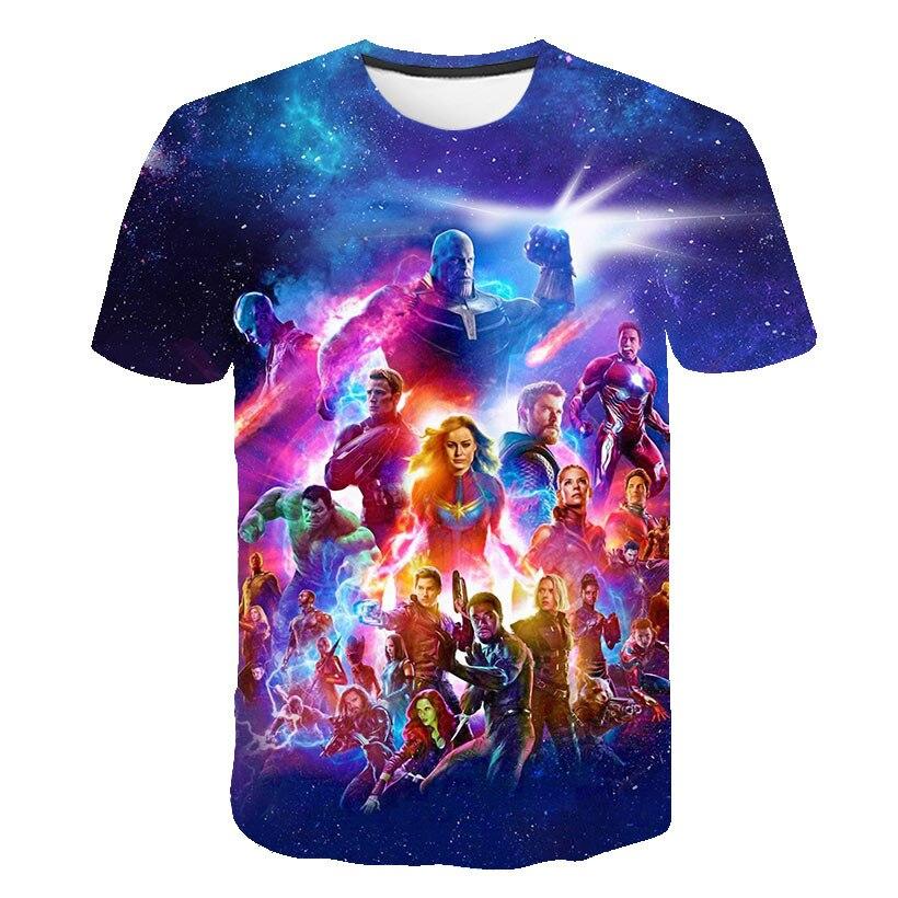 2019 4.24 Start Fight New design t shirt men/women Avengers Endgame 3D print t-shirts Short sleeve Harajuku style AS SIZE