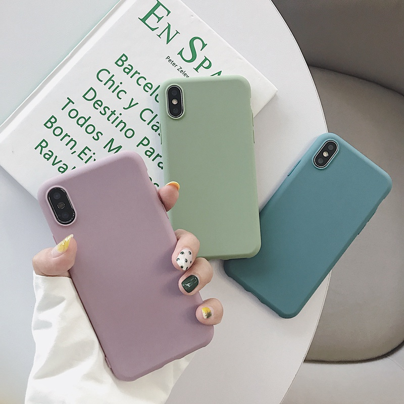 NEW 2020 Cases For Vivo Y91i (INDIA) Y93 (China) Y91C Solid Candy Color Back Cover Soft Matte TPU Mobile Phone Case Fundas Coque(China)