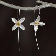 цены Women 's Jewelry silver Colour tassel flower earrings princess fashion temperament birthday Valentine' s Day gift