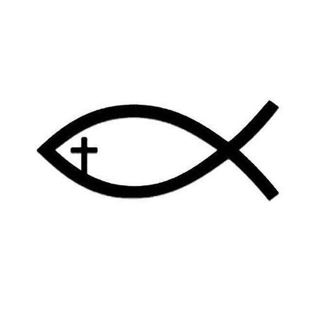 1042 CM Jesus Chretien De Poissons Symbole Decal Autocollant Voiture Fenetre En Verre
