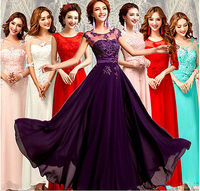 Pretty Cheap 2015 New Long Chiffon Evening Dress A Line Formal Party Ball Gown Prom Dress