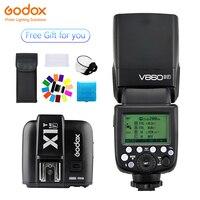 Godox Винг V860II V860II F Speedlite вспышка ttl + X1T F передатчик Беспроводная вспышка Trigge для камеры Fujifilm X Pro2/X T20/X T1/X