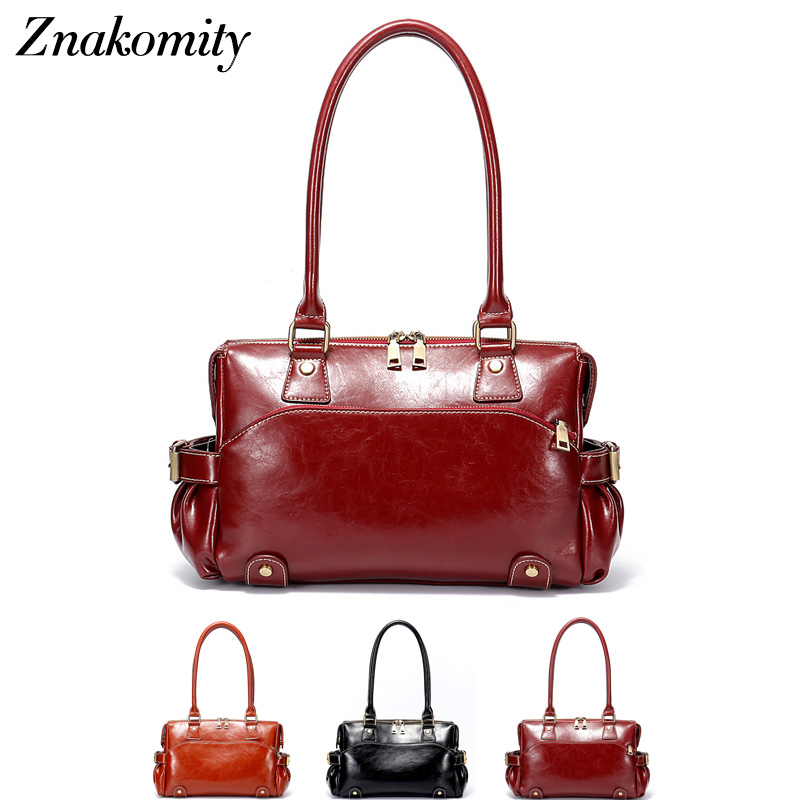 Znakomity New shoulder bag real women's genuine leather handbag wine red Fashion brown black tote bag top-handle hand bags women znakomity new shoulder bag real women s genuine leather handbag wine red fashion brown black tote bag top handle hand bags women