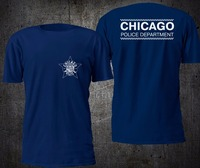 NEW CHICAGO POLICE DEPARTMENT T SHIRT BLACK BRAND CLOTHING O NECK CASUAL TSHIRT MENS FORCE FUNNY