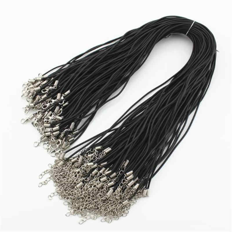10Pcs Necklave Leather Cord Chain Findings Adjustable Braided DIY String Rope With Lobster Clasp Jewelry Accessory 4 Colors Sale