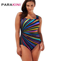 Plus Size Swimwear Female Polka Print One Piece Swimsuit Women Vintage Bathing Suit One Piece Suit