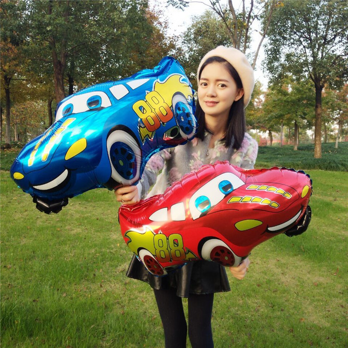 1 Pcs/lot Cartoon Car Foil Balloons Star Helium Balloon Inflatable Children Clas