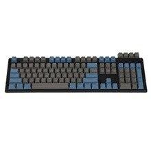 Верхняя печать двойной Shot PBT Shine Through Прозрачный 108 клавиши OEM профиль клавиши для MX переключателей механическая клавиатура