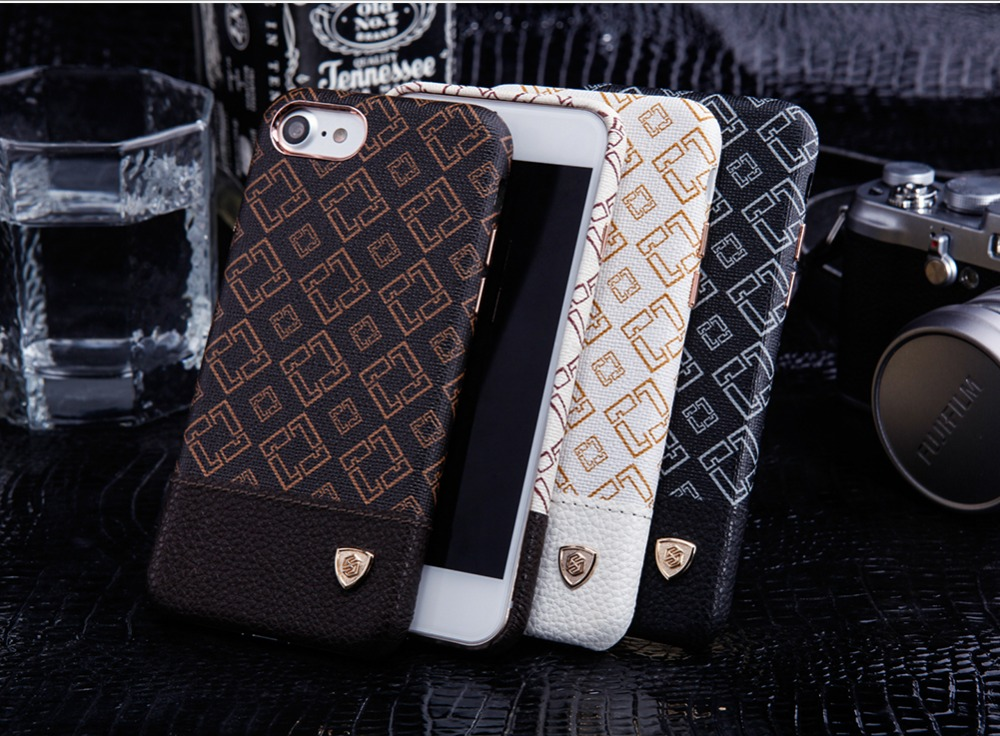 Nillkin case for iphone 7 cover Vintage PU Leather PC hard back Cover Case for iphone7 case work with magnetic car phone holder