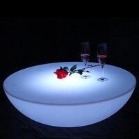 RGBW Перезаряжаемые клуб светодио дный журнальный столик с подсветкой свет мебель завод предложение SK LF17 (D91 * H22cm) 1 шт.