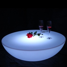 RGBW Rechargeable Club Led Illuminated Coffee Table Light Furnitures Factory Offer SK-LF17 (D91*H22cm) 1pc