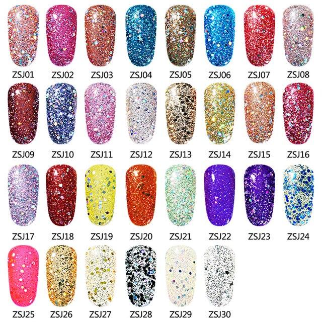 Elite99 10 ml Diamant Farbe Nagel Gel UV LED Gel Polnisch Glänzende Glitter Pailletten Nail art Gel Polish Long Lasting polituren Lack