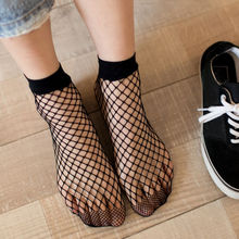 Sexy Women Mesh Lace Fish Socks Solid Fashion Ruffle Fishnet Ankle High Short