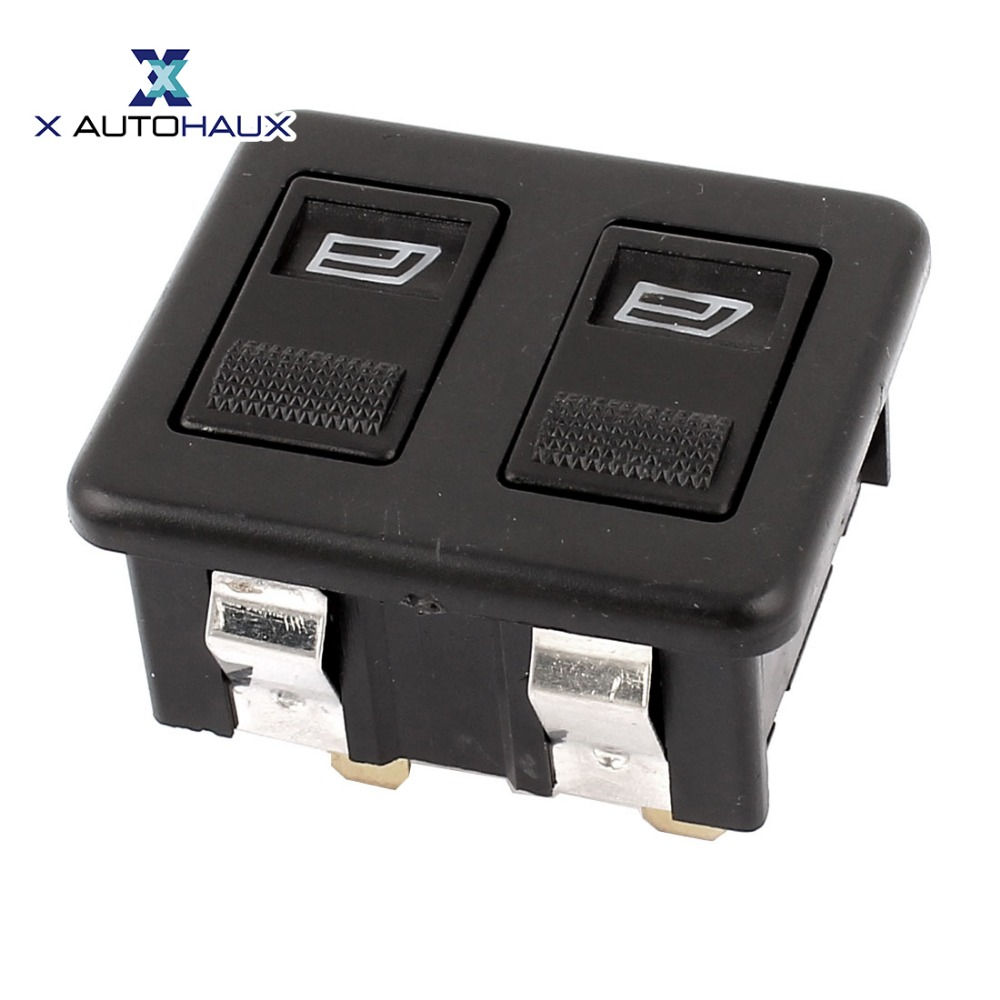 X AUTOHAUX Car Auto Panel Mount Dual Button Window Open Glass Lift Switch  12V|switch 12v|switch switch|switch open - title=
