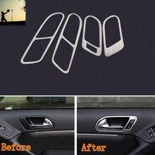 Стайлинга автомобилей 4 Шт. ABS Chrome Интерьер Ручка Двери Рамка крышка Для VW Tiguan 2010-2012 2013 2014 2015 Бесплатная Доставка автомобиля стайлинг