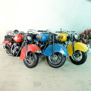Indian handmade metal to create motorcycle ornaments DIY factory direct handicraft model 036SMT home decor  christmas gift