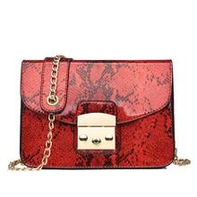 HIFAR 2019 Small Crossbody Bag For Women Fashion Snake PU Leather Shoulder Bag Female Chain Messenger Bag Women Brand Bag New