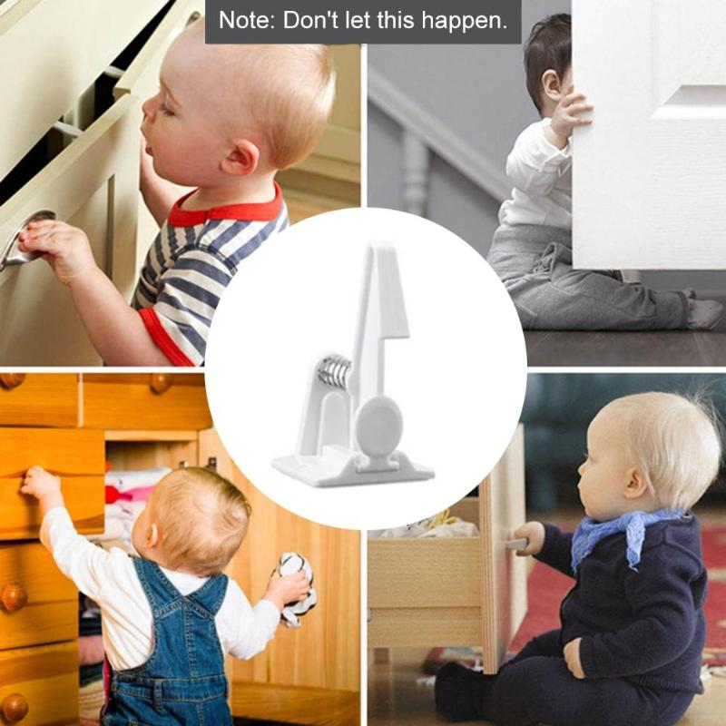 2/6/10/12pcs Baby Safety Window Cabinet Door Locks Durable Child Protection Refrigerator Drawer Blocker Childproof Security Lock