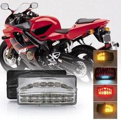 SPEEDPARK Motocicleta Traseiro lanterna traseira Cauda Lâmpada de Freio Piscas Integrado Led Light Para HONDA CBR600 F4I CBR-600 2001-2003