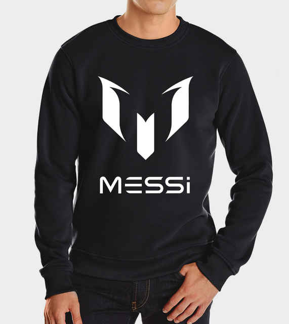 2017 new barcelona black messi men autumn winter fashion brand  hoodies casual hoodie sweatshirt streetwear harajuku fleece