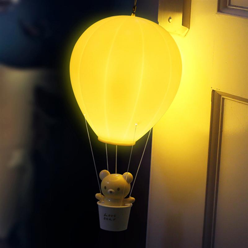 Us 14 3 47 Off Bestoyard Led Night Light Dimmable Hot Air Balloon Children Baby Nursery Bedroom Touch Control Wall Lamp Usb Rechargeable In Ballons