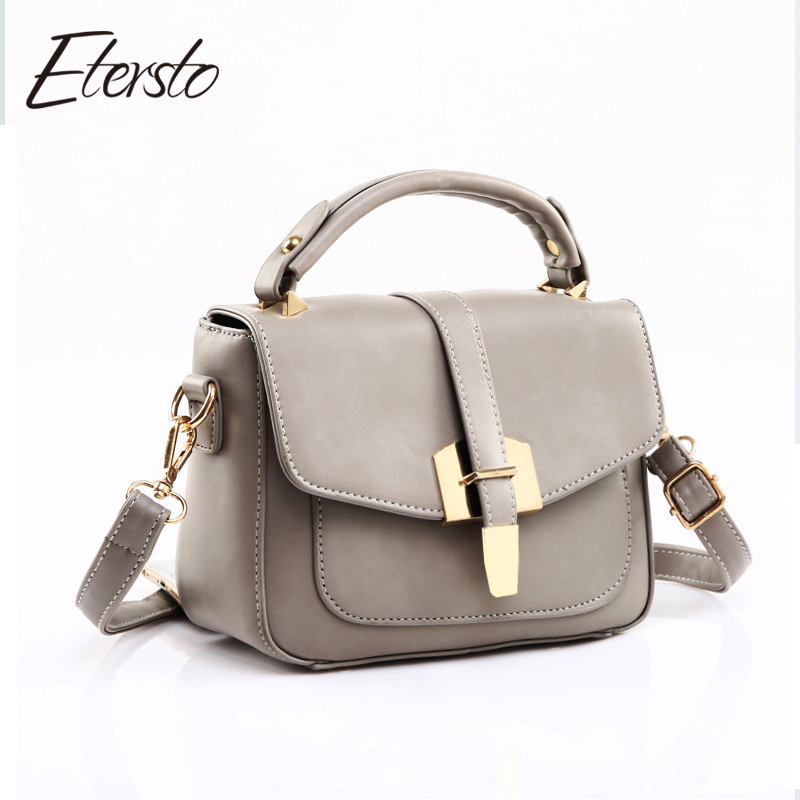 etersto brand women leather messenger bags for teenager
