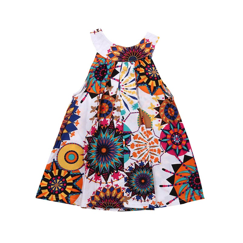 Toddle Kids Clothes Summer Girls Dress Sleeveless Floral Princess A-Line Roupas Infantis Menina Child Dresses 3-8Y