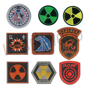 Power-Badge-Patch STALKER Atomic Factions S.T.A.L.K.E.R. Chernobyl Stripe Nuclear Mercenaries