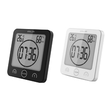 Best price Digital LCD Large Screen Thermometer Hygrometer Timer Wall Clock Alarm Suction -B119