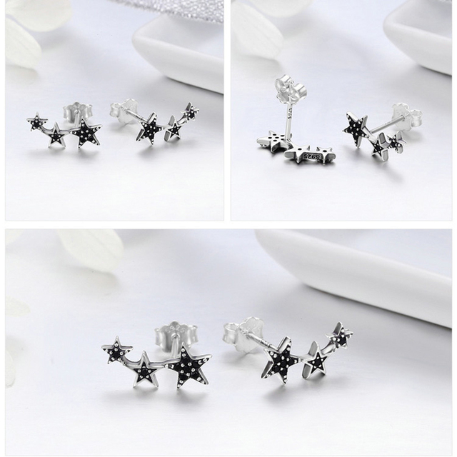 Stackable Sparkling Star Earrings7
