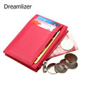 Dreamlizer 2016 New Genuine Leather Women Card Holder Wallets Female Credit Card Holder Thin Card Holder Coin Purse Women