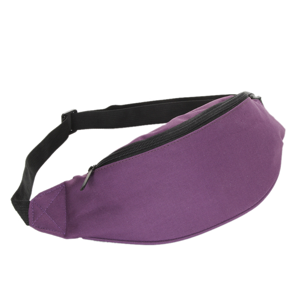 Bag Fanny Pack Hip Waist Festival Money Pouch Belt Wallet Travel Bag Holiday Kids Purple