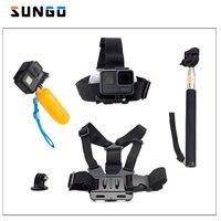 SUNGO Chest Strap Floaty Bobber Monopod Head Belt Mount Selfie Stick For Gopro Hero 5 4
